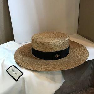 8db847d7 Gucci Accessories | Papier Straw Wide Brim Hat | Poshmark